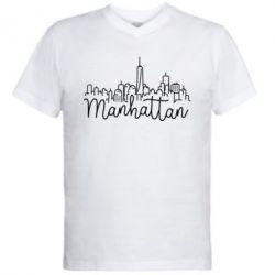 Чоловіча футболка з V-подібним вирізом Manhattan