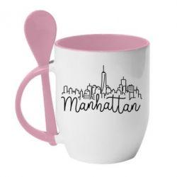 Кружка з керамічною ложкою Manhattan
