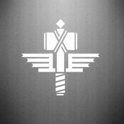 Наклейка Manowar Logo