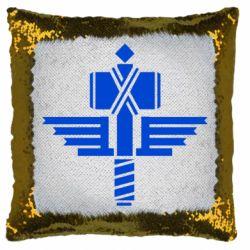 Подушка-хамелеон Manowar Logo