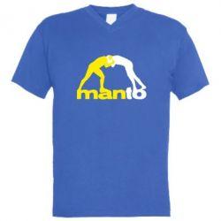 Чоловіча футболка з V-подібним вирізом Manto