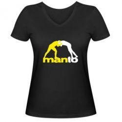 Женская футболка с V-образным вырезом Manto