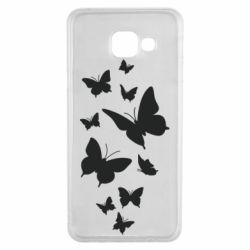 Чохол для Samsung A3 2016 Many butterflies