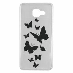 Чохол для Samsung A7 2016 Many butterflies
