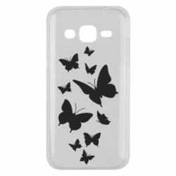 Чохол для Samsung J2 2015 Many butterflies