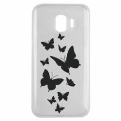 Чохол для Samsung J2 2018 Many butterflies
