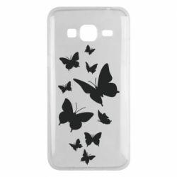Чохол для Samsung J3 2016 Many butterflies