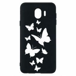 Чохол для Samsung J4 Many butterflies