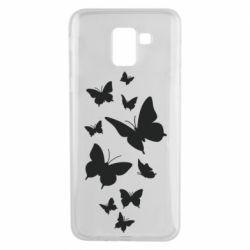 Чохол для Samsung J6 Many butterflies