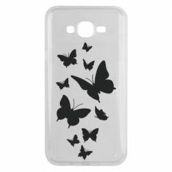 Чохол для Samsung J7 2015 Many butterflies