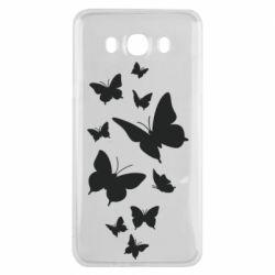 Чохол для Samsung J7 2016 Many butterflies