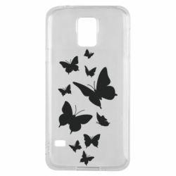 Чохол для Samsung S5 Many butterflies