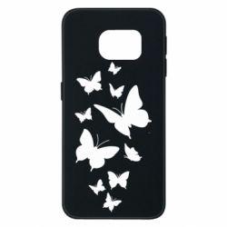 Чохол для Samsung S6 EDGE Many butterflies