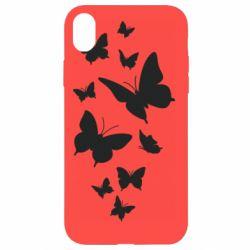 Чохол для iPhone XR Many butterflies