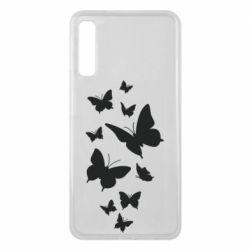 Чохол для Samsung A7 2018 Many butterflies