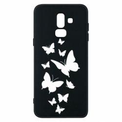 Чохол для Samsung J8 2018 Many butterflies