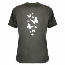 Камуфляжна футболка Many butterflies