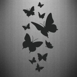 Наклейка Many butterflies