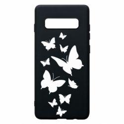 Чохол для Samsung S10+ Many butterflies
