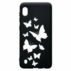 Чохол для Samsung A10 Many butterflies