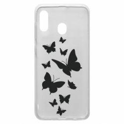 Чохол для Samsung A20 Many butterflies