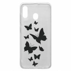 Чохол для Samsung A30 Many butterflies
