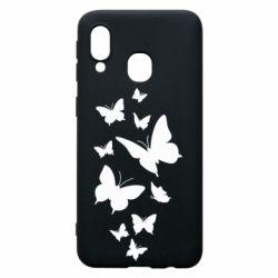 Чохол для Samsung A40 Many butterflies