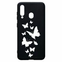 Чохол для Samsung A60 Many butterflies