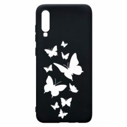 Чохол для Samsung A70 Many butterflies
