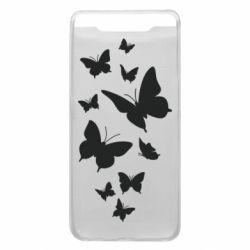 Чохол для Samsung A80 Many butterflies