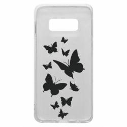 Чохол для Samsung S10e Many butterflies