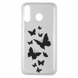 Чохол для Samsung M30 Many butterflies
