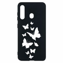 Чохол для Samsung M40 Many butterflies