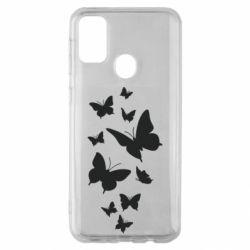 Чохол для Samsung M30s Many butterflies