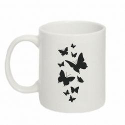 Кружка 320ml Many butterflies