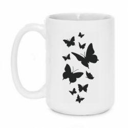 Кружка 420ml Many butterflies