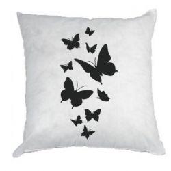 Подушка Many butterflies