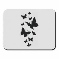 Килимок для миші Many butterflies