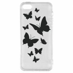 Чохол для iphone 5/5S/SE Many butterflies