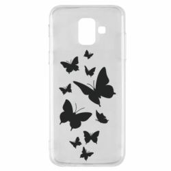 Чохол для Samsung A6 2018 Many butterflies