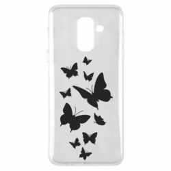 Чохол для Samsung A6+ 2018 Many butterflies