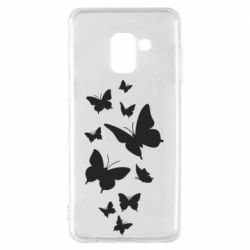 Чохол для Samsung A8 2018 Many butterflies