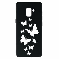 Чохол для Samsung A8+ 2018 Many butterflies