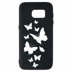 Чохол для Samsung S7 Many butterflies