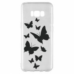 Чохол для Samsung S8+ Many butterflies