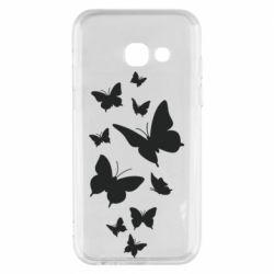 Чохол для Samsung A3 2017 Many butterflies