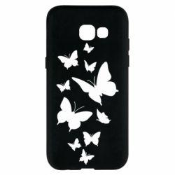 Чохол для Samsung A5 2017 Many butterflies