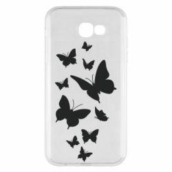 Чохол для Samsung A7 2017 Many butterflies
