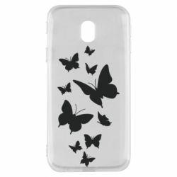 Чохол для Samsung J3 2017 Many butterflies