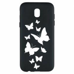 Чохол для Samsung J5 2017 Many butterflies